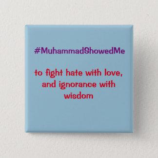Bóton Quadrado 5.08cm A tempestade Muhammad de Hashtag do Twitter