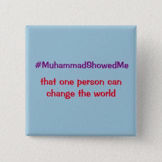 Bóton Quadrado 5.08cm A tempestade Muhammad do Twitter de Hashtag