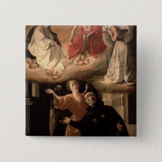 Bóton Quadrado 5.08cm A visão de St. Alphonsus Rodriguez