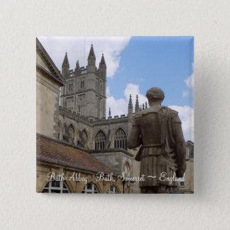 Bóton Quadrado 5.08cm Abadia botão de Somerset do banho, Inglaterra