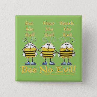 "Bóton Quadrado 5.08cm ""Abelha nenhumas"" abelhas más"