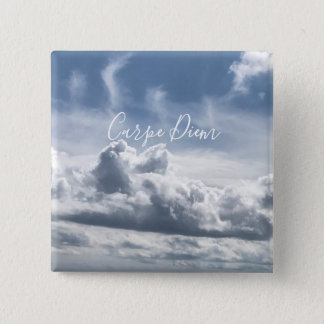 Bóton Quadrado 5.08cm Abotoe Carpe Diem, foto bonita das nuvens