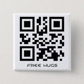 Bóton Quadrado 5.08cm Abraços livres