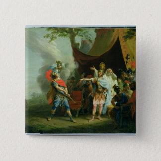Bóton Quadrado 5.08cm Achilles tem uma disputa com Agamemnon, 1776