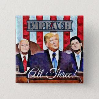 Bóton Quadrado 5.08cm Acuse o botão do presidente Donald Trump