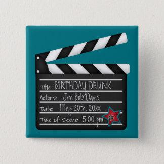 Bóton Quadrado 5.08cm Adicione seu próprio diretor de filme ripa das