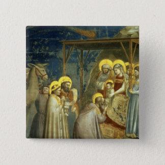 Bóton Quadrado 5.08cm Adoração dos Magi, c.1305