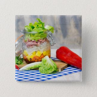 Bóton Quadrado 5.08cm Almoço em um vidro