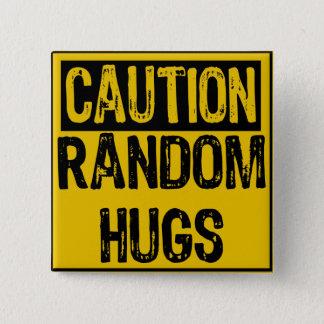 Bóton Quadrado 5.08cm Amarelo/preto Sinal-Aleatórios dos abraços do