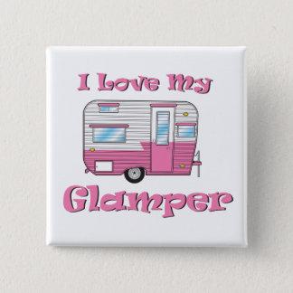 Bóton Quadrado 5.08cm Ame meu botão quadrado de Glamper