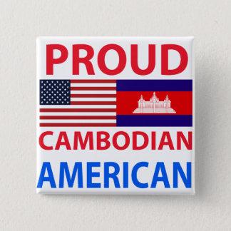 Bóton Quadrado 5.08cm Americano cambojano orgulhoso