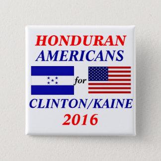 Bóton Quadrado 5.08cm Americanos do Honduran para Clinton/Kaine