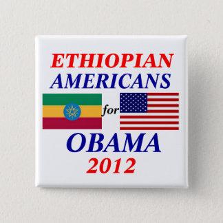 Bóton Quadrado 5.08cm Americanos etíopes para Obama
