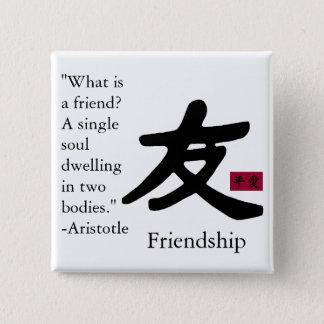 Bóton Quadrado 5.08cm Amizade 1