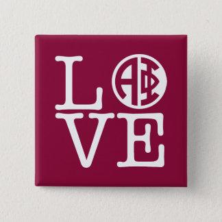Bóton Quadrado 5.08cm Amor alfa da phi |