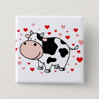 Bóton Quadrado 5.08cm Amor da vaca