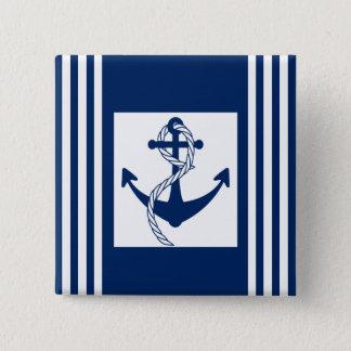 Bóton Quadrado 5.08cm Âncora náutica com uma corda