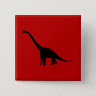 Bóton Quadrado 5.08cm Animais pré-históricos da sombra do dinossauro do