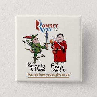Bóton Quadrado 5.08cm Anti-Romney/Ryan