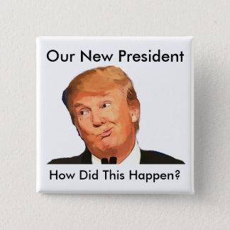 Bóton Quadrado 5.08cm Anti trunfo, botão da eleição do cargo