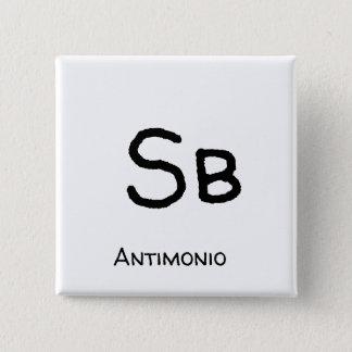 Bóton Quadrado 5.08cm Antimonio - Sb