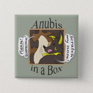 Bóton Quadrado 5.08cm Anubis em uma caixa (olhos fechados)