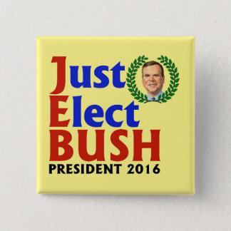 Bóton Quadrado 5.08cm Apenas eleja Bush em 2016