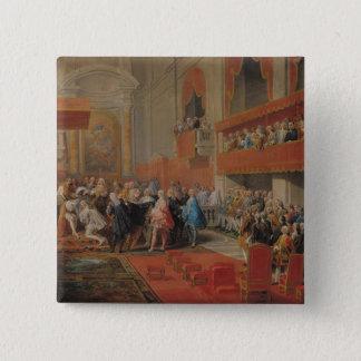 Bóton Quadrado 5.08cm Apresentação da ordem de Espírito Santo ao