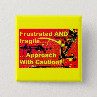 Bóton Quadrado 5.08cm Aproximação com o botão do emblema do cuidado