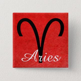 Bóton Quadrado 5.08cm Aries, botão do símbolo da ram do sinal do