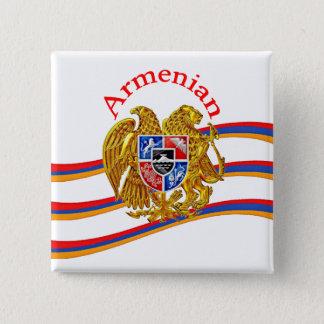 Bóton Quadrado 5.08cm Arménio botão do quadrado de 2 polegadas