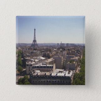 Bóton Quadrado 5.08cm Arquitectura da cidade de Paris, Paris, France