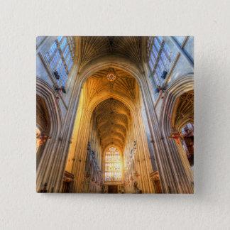 Bóton Quadrado 5.08cm Arquitetura da abadia do banho