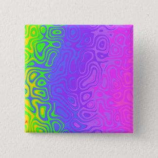 Bóton Quadrado 5.08cm Arte colorida descascada