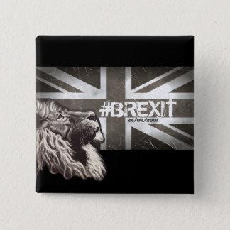 Bóton Quadrado 5.08cm Arte comemorativa do #Brexit orgulhoso do leão