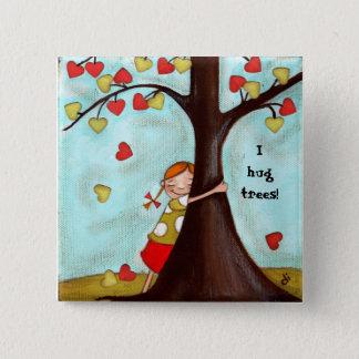 Bóton Quadrado 5.08cm Árvore Hugger - botão