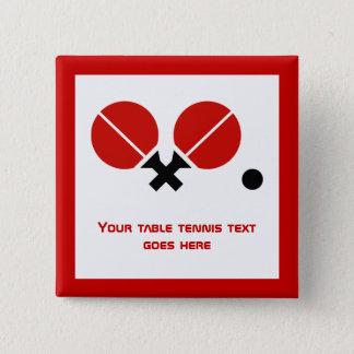 Bóton Quadrado 5.08cm As raquetes e a bola do sibilo-pong do ténis de