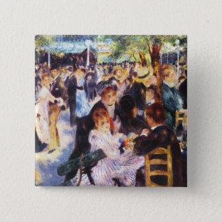 Bóton Quadrado 5.08cm Auguste Renoir - dance no la Galette de Le moulin