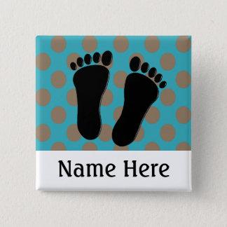 Bóton Quadrado 5.08cm Azul customizável dos botões conhecidos do