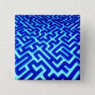 Bóton Quadrado 5.08cm Azul do labirinto