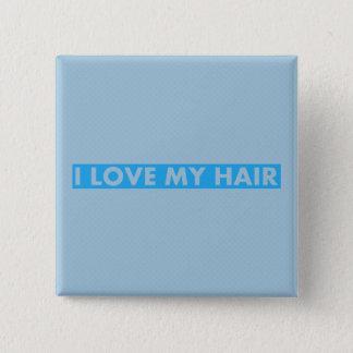 Bóton Quadrado 5.08cm Azul eu amo meu entalhe do cabelo