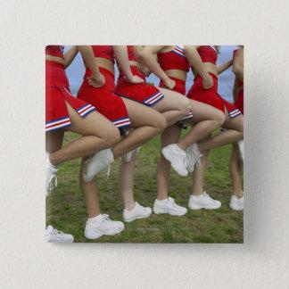 Bóton Quadrado 5.08cm Baixa ideia da seção de um grupo de cheerleaderes