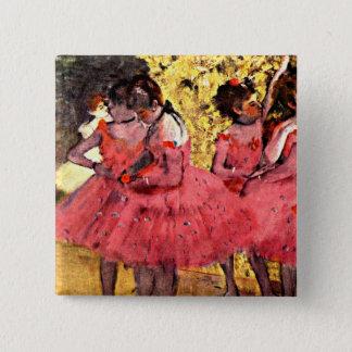 Bóton Quadrado 5.08cm BALÉ--Desgaseifique: Os dançarinos cor-de-rosa