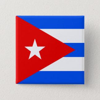 Bóton Quadrado 5.08cm Bandeira de alta qualidade de Cuba