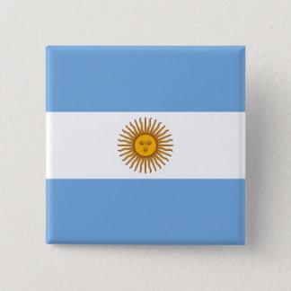 Bóton Quadrado 5.08cm Bandeira de Argentina