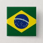 Bóton Quadrado 5.08cm Bandeira de Brasil