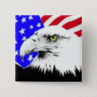 Bóton Quadrado 5.08cm Bandeira de Eagle