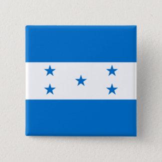 Bóton Quadrado 5.08cm Bandeira de Honduras