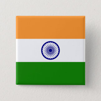 Bóton Quadrado 5.08cm Bandeira de India