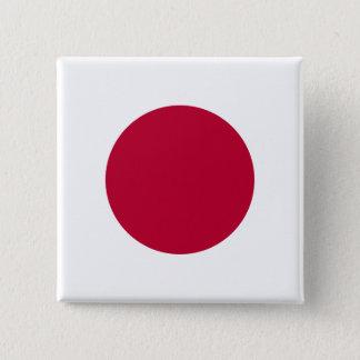 Bóton Quadrado 5.08cm Bandeira de Japão